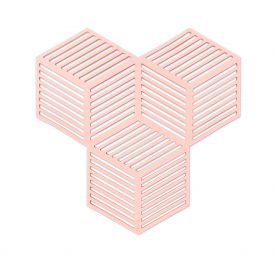 onderzetter - silicone - roze