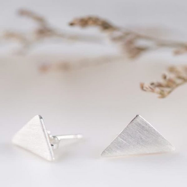 oorstekers - triangle - zilver