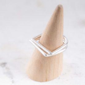 ring -  D - zilver