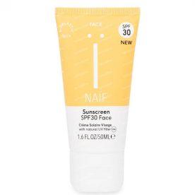 natuurlijke zonnebrandcrème - gezicht IP30 - volwassenen - 50ml