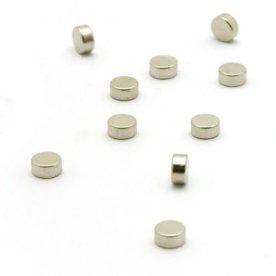 magneetjes - set 10 stuks - zilver