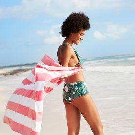 handdoek - sneldrogend - koraal