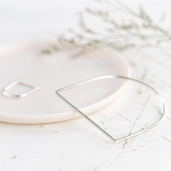 armband - bangle D - zilver