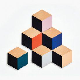 tafeltegels - hout - mix kleurtjes